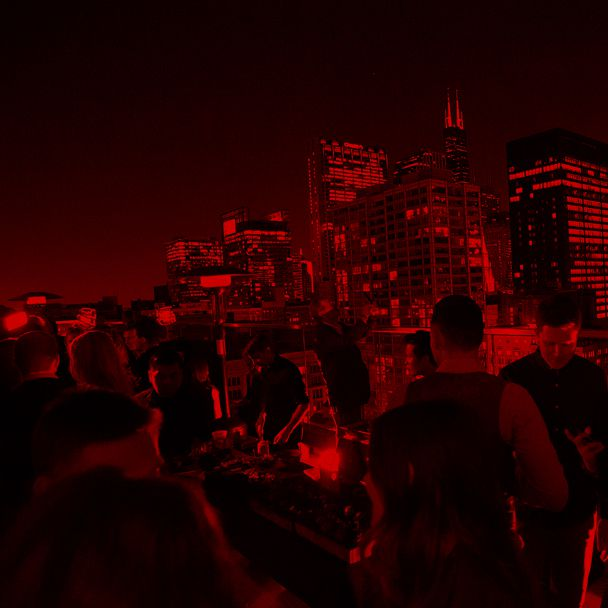 Chicago Skyline Views from the Cerise Rooftop