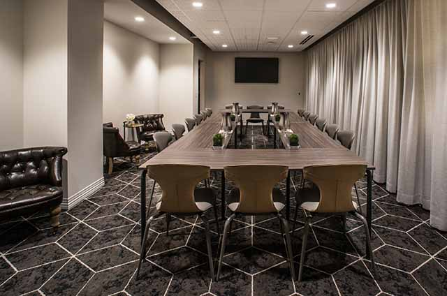 The Study personalized meeting spaces in Virgin Hotels Chicago