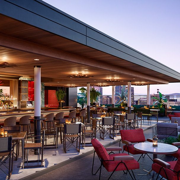 Rendering of the Virgin Hotels San Francisco rooftop