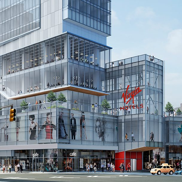 Rendering of the future Virgin Hotels New York City