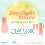 Daylight Disco event at Cerise rooftop