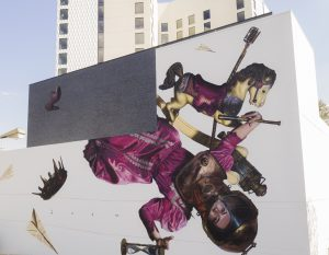 Art Mural by Drew Merritt Virgin Hotel Mural H, Photo by Exploredinary