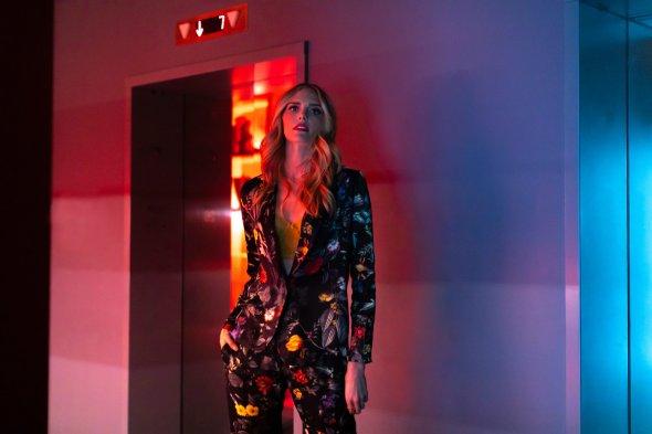 Stylish woman in stylish hotel lobby