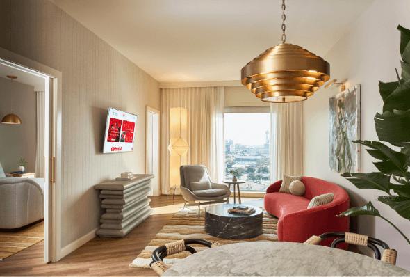 Dallas hotel guest room