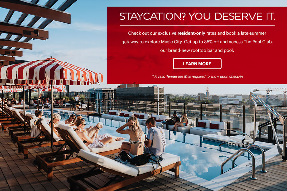 Staycation rates in Nashville